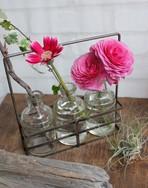 アンティーク調ボトル花瓶(3ボトル)